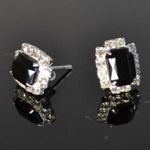 zilveren oorstekers onyx 13022